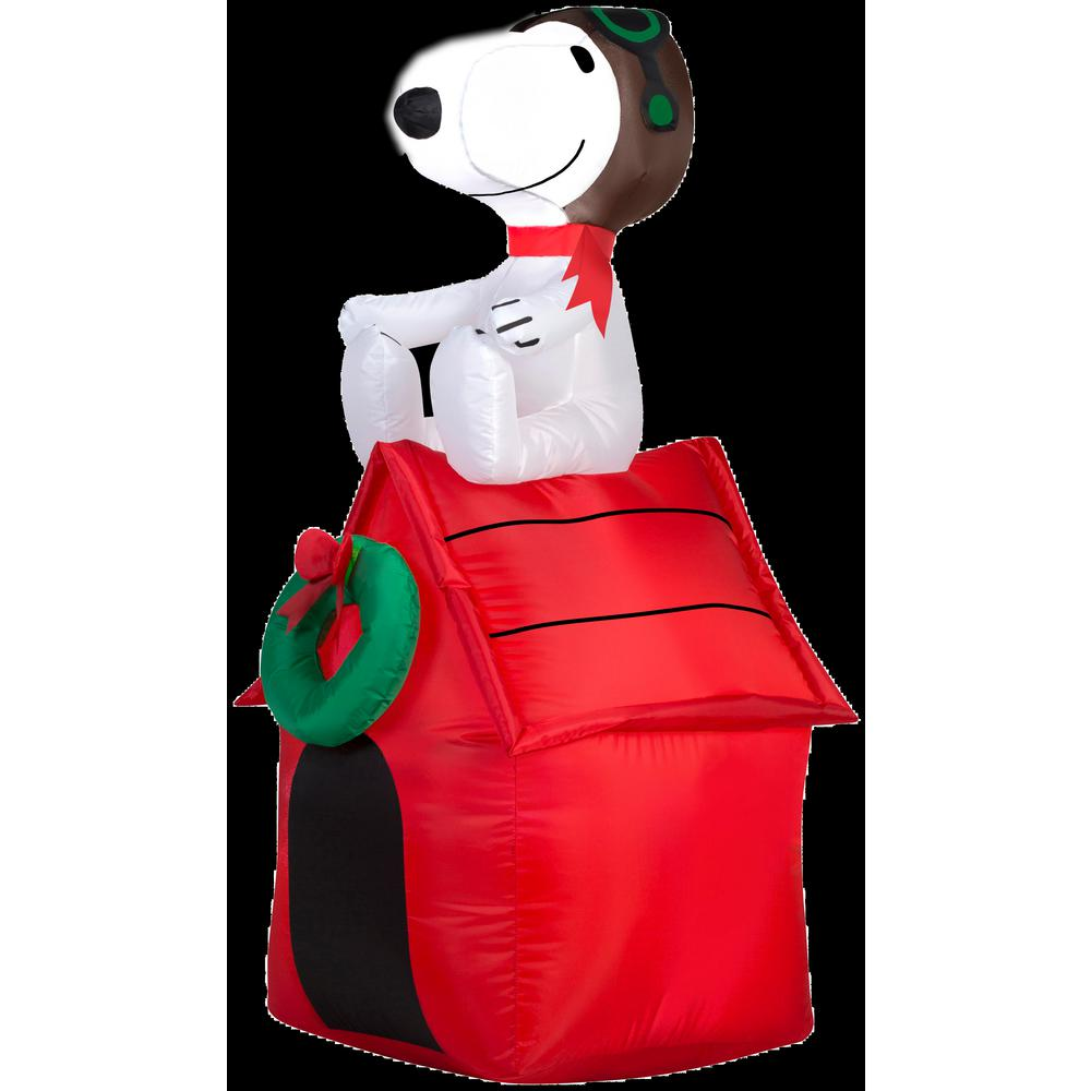 h inflatable snoopy on dog house
