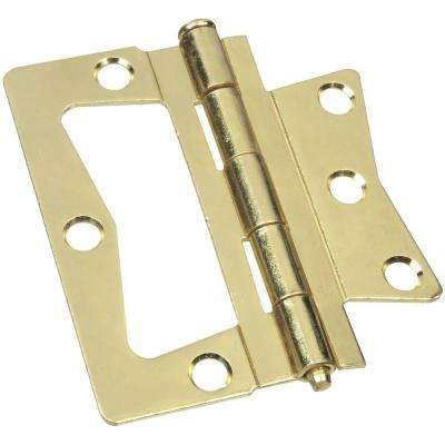 3-1/2 in. Bright Brass Non-Mortise Hinge