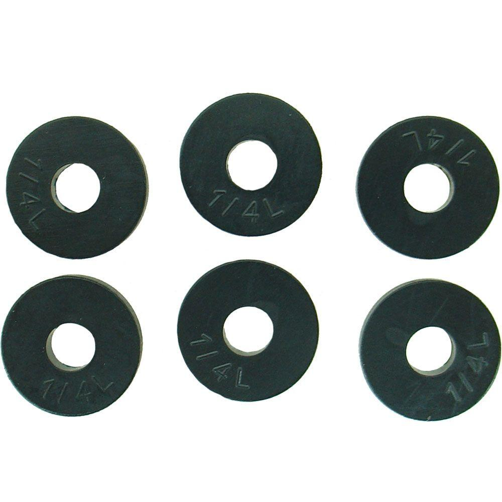 19/32 in. O.D. (1/4L Trade Size) Flat Faucet Washers (6-Pack)