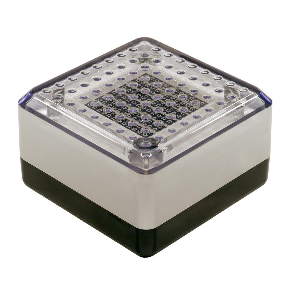 Dimex SolarCap 4 in. x 4 in. Solar LED Paver and Landscape Light in White