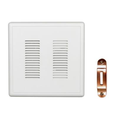 PrimeChime Plus 2 Video Compatible Wired Door Bell Chime Kit with Copper Decorative Button