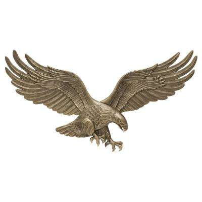 29 in. Antique Brass Wall Eagle