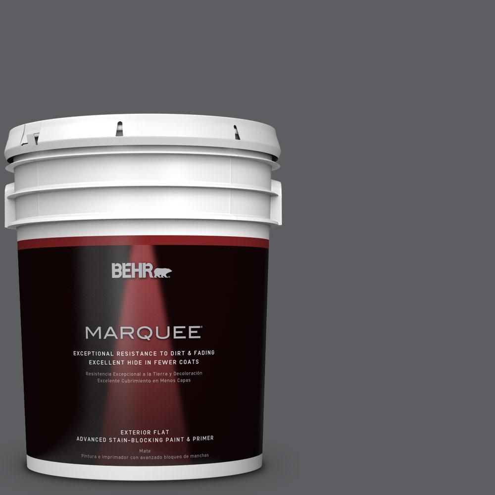 5-gal. #N500-6 Graphic Charcoal Flat Exterior Paint