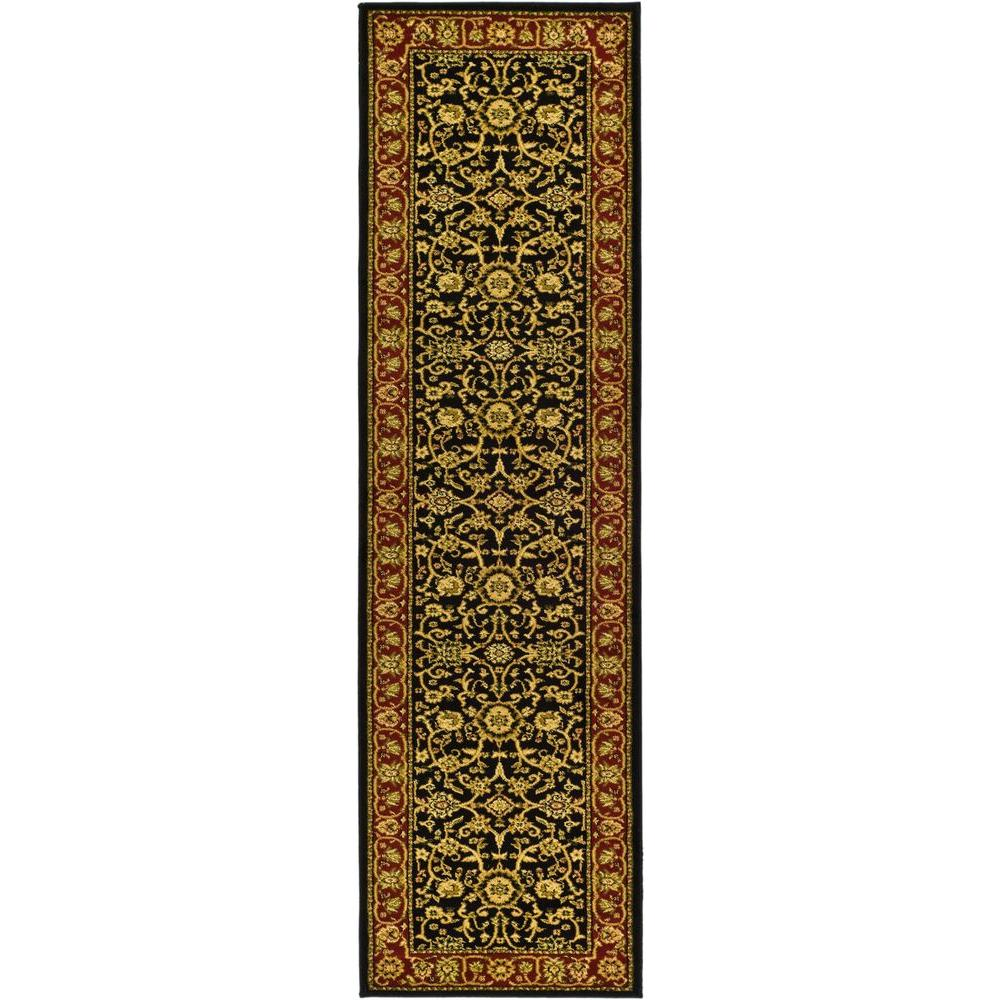 Lyndhurst Black/Red 2 ft. 3 in. x 8 ft. Runner