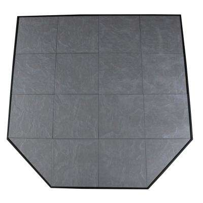 Boxed Hearth Pad Kit 48 in. Corner/Square Volcanic Sand