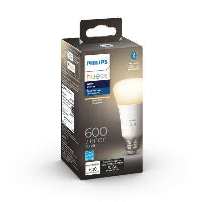 White A19 LED 50W Equivalent Dimmable Wireless Smart Light Bulb