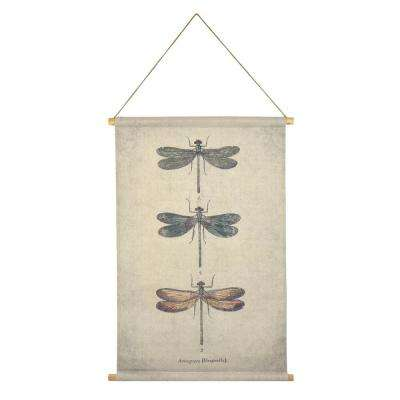 Dragonfly Hanging Linen Tapestry
