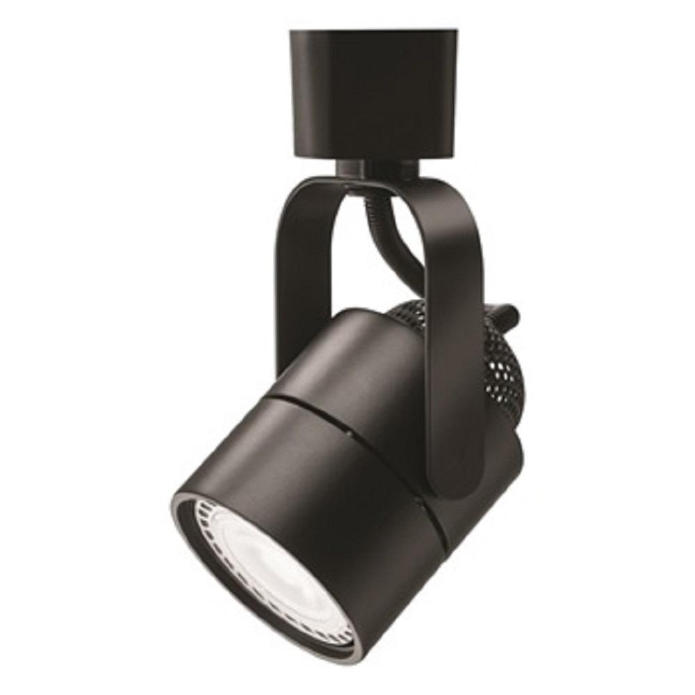Black Mesh Back Integrated LED Track Lighting Head
