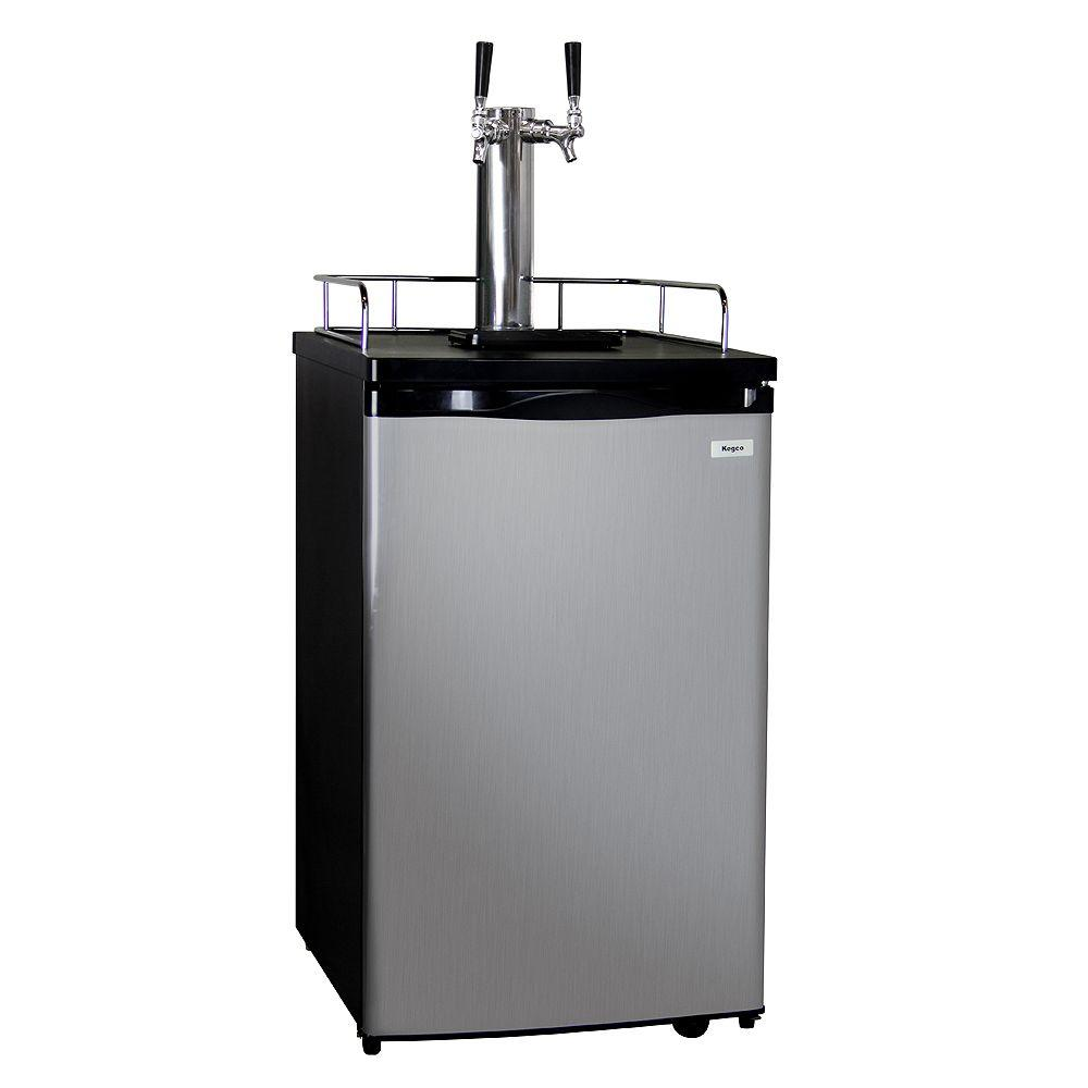 Full Size Keg Beer Dispenser with Double Tap