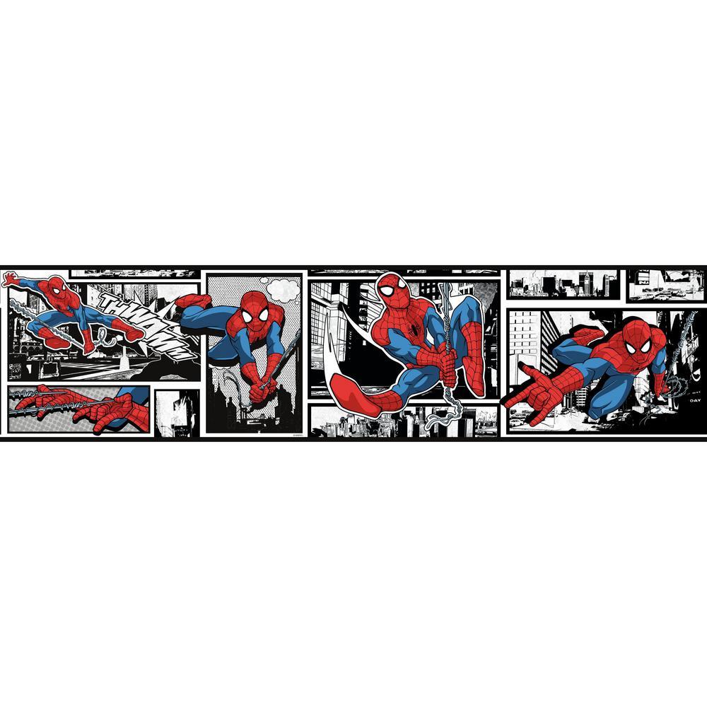 York Wallcoverings Disney Kids III Marvel Ultimate Spiderman Comic Border