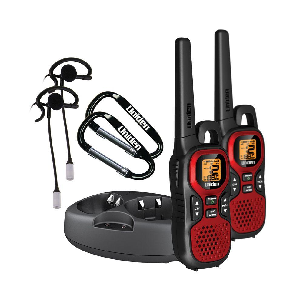 Uniden Two 30-Mile Range FRS/GMRS Radios with 2 Vox Headsets