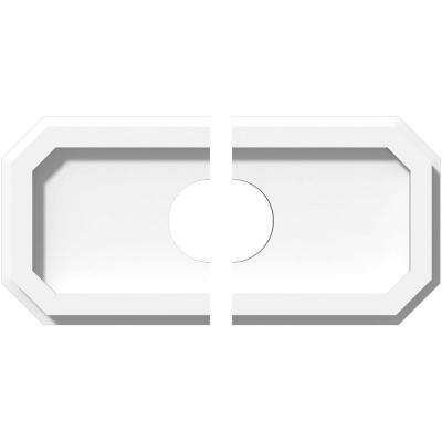 10 in. x 5 in. x 1 in. Emerald Architectural Grade PVC Contemporary Ceiling Medallion (2-Piece)