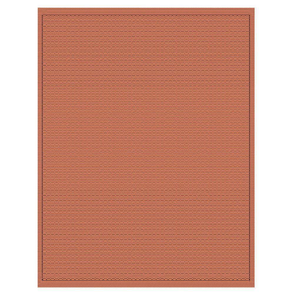 Home Decorators Collection Saddlestitch Terra Cotta and Black 5 ft. 3 in. x 7 ft. 6 in. Area Rug