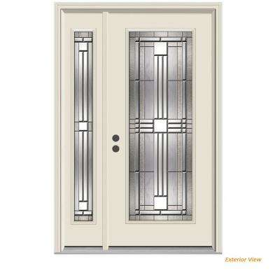 Incroyable 52 In. X 80 In. Full Lite Cordova Primed Steel Prehung Right Hand