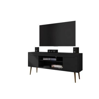 Bradley 63 in. Black Composite TV Stand Fits TVs Up to 60 in. with Cable Management