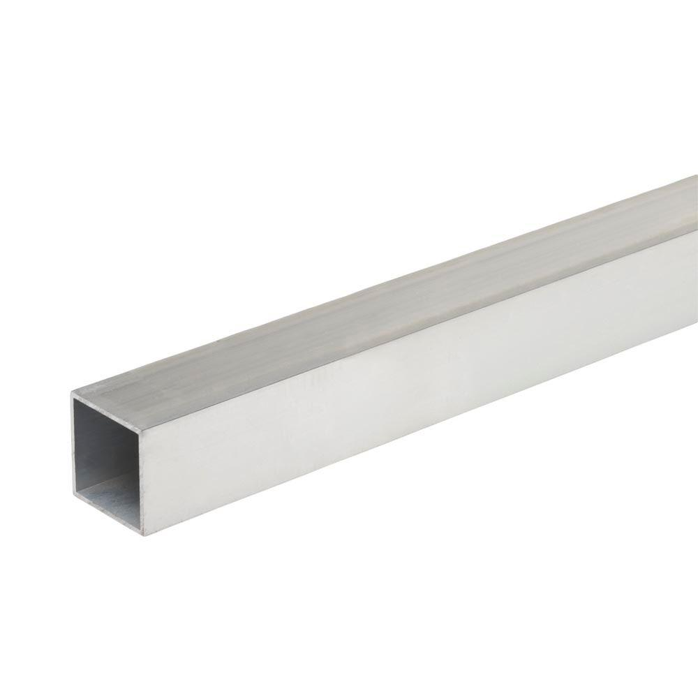 Everbilt 1 In X 48 In Aluminum Square Tube With 1 16 In