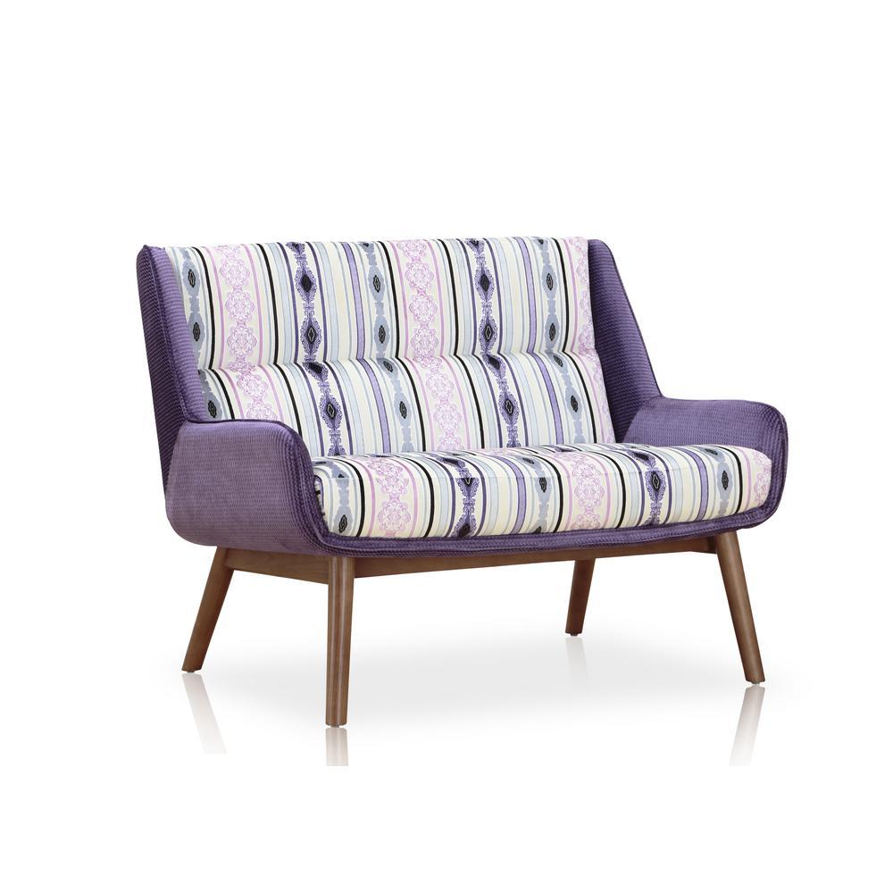Fabulous Purple Blend Fabritze Loveseat Lamtechconsult Wood Chair Design Ideas Lamtechconsultcom