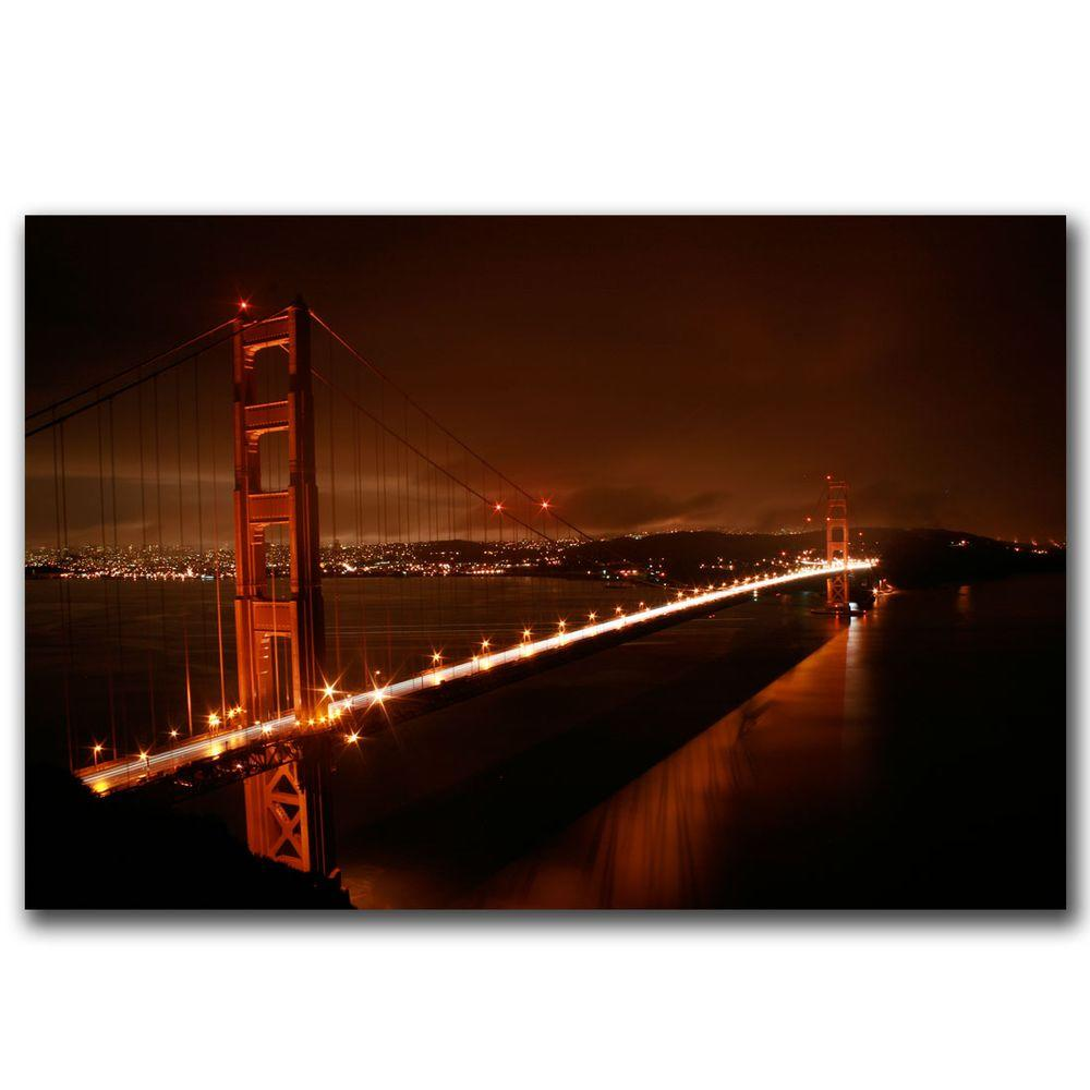 Trademark Fine Art 24 in. x 16 in. Golden Gate Canvas Art