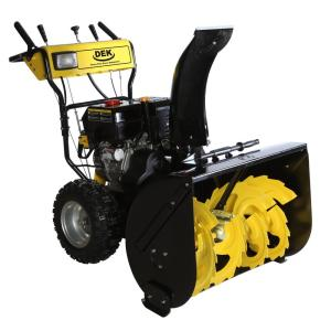 DEK 30 inch Commercial 302cc Gas Electric Start 2-Stage Snow Blower, Bonus Drift Cutters and Clean-Out Tool by DEK