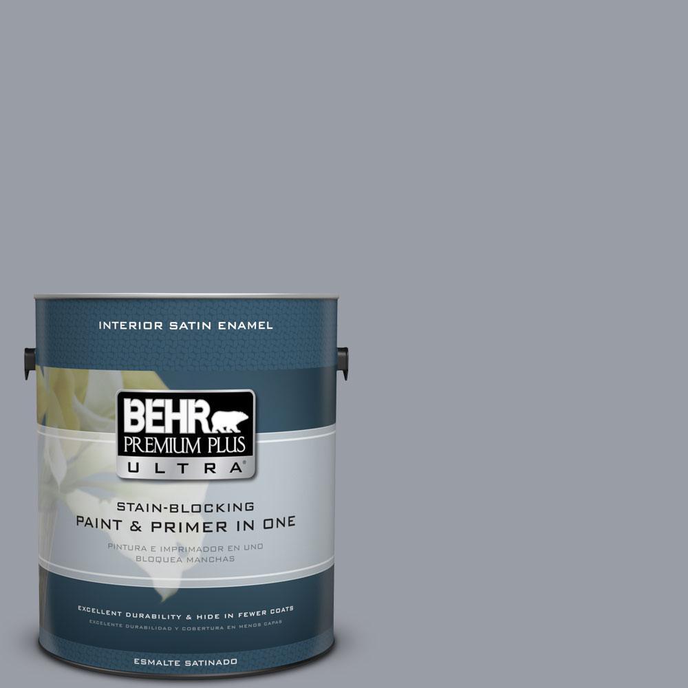 1-gal. #760F-4 Down Pour Satin Enamel Interior Paint