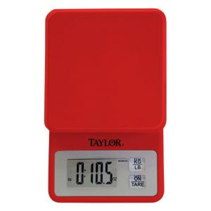 Click here to buy Taylor Digital Compact Kitchen Scale in Red by Taylor.