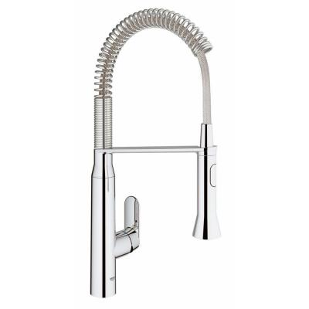 K7 Medium Semi-Pro Single-Handle Pull-Down Sprayer Kitchen Faucet in StarLight Chrome