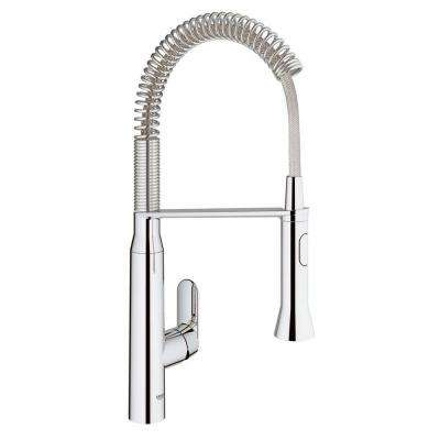 K7 Medium Semi-Pro Single-Handle Standard Kitchen Faucet in Chrome