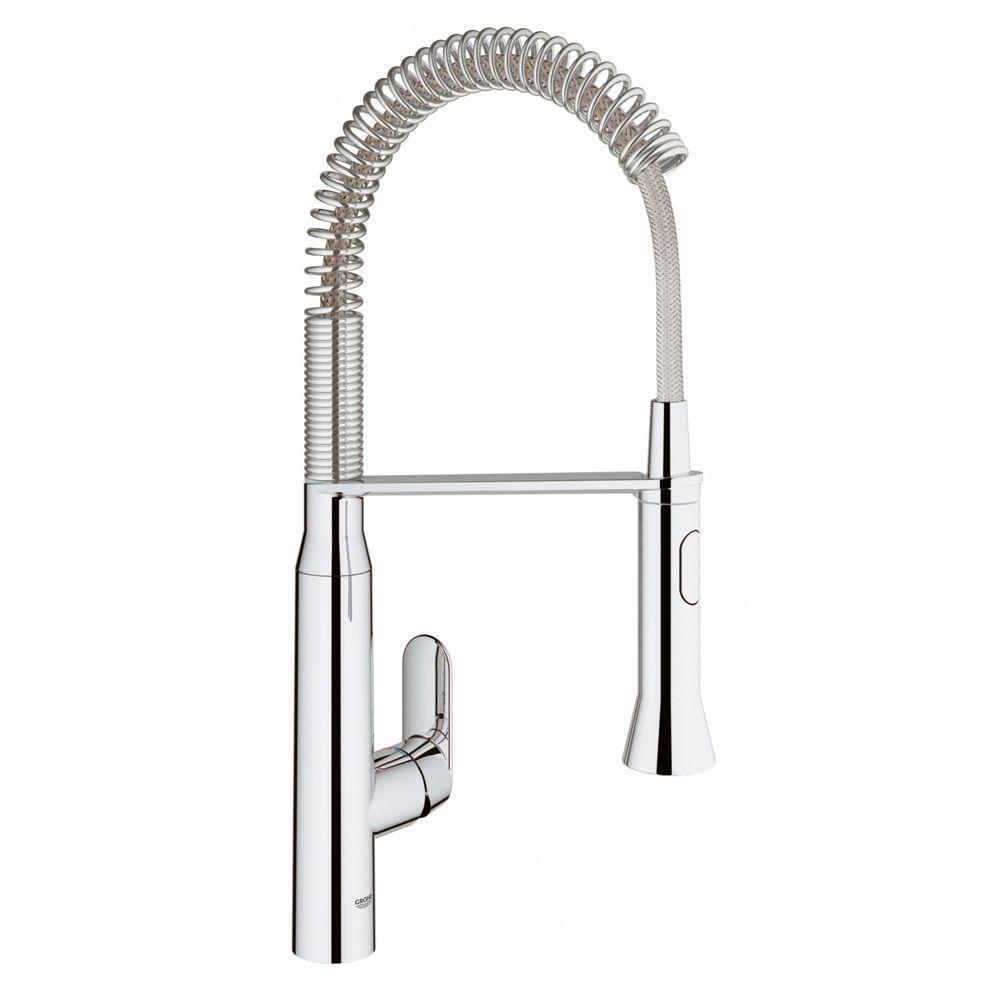 K7 Medium Semi-Pro Single-Handle Standard Kitchen Faucet in Chrome