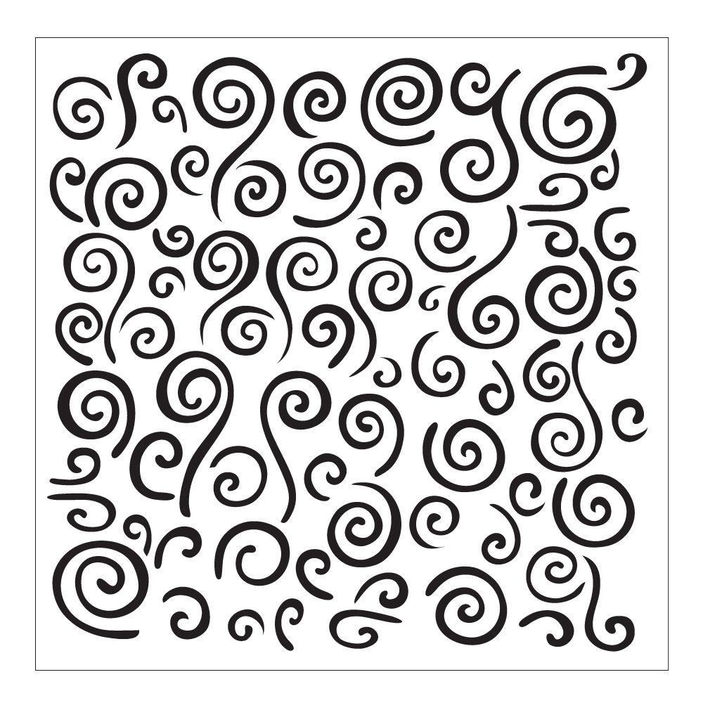 FolkArt Swirl Background Small Painting Stencil 30609 The Home Depot