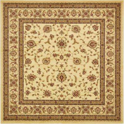 Voyage Cream 10 ft. x 10 ft. Square Area Rug