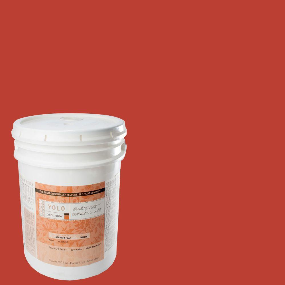 YOLO Colorhouse 5-gal. Petal .06 Flat Interior Paint-DISCONTINUED