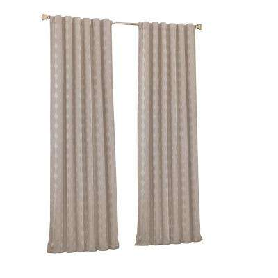 Adalyn Blackout Window Curtain Panel in String - 52 in. W x 95 in. L