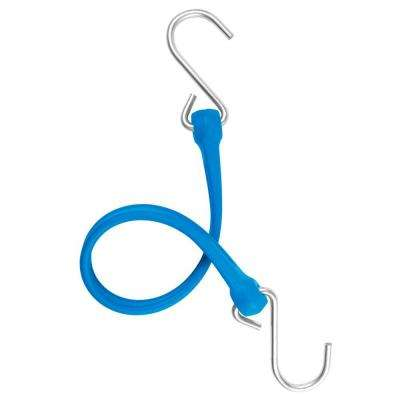13 in. EZ-Stretch Polyurethane Bungee Strap with Galvanized S-Hooks (Overall Length: 18 in.) in Blue