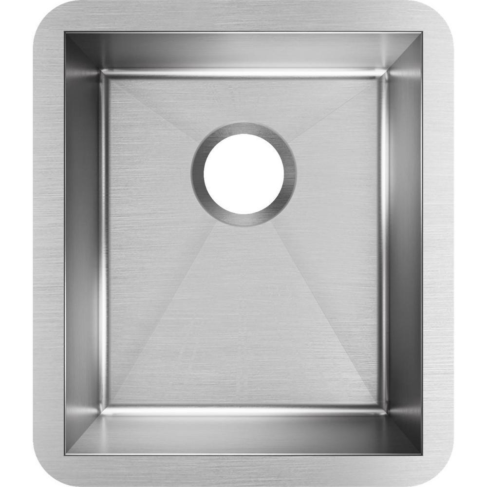 Elkay Crosstown Undermount 16 Gauge Stainless Steel In Single Bowl Kitchen Sink