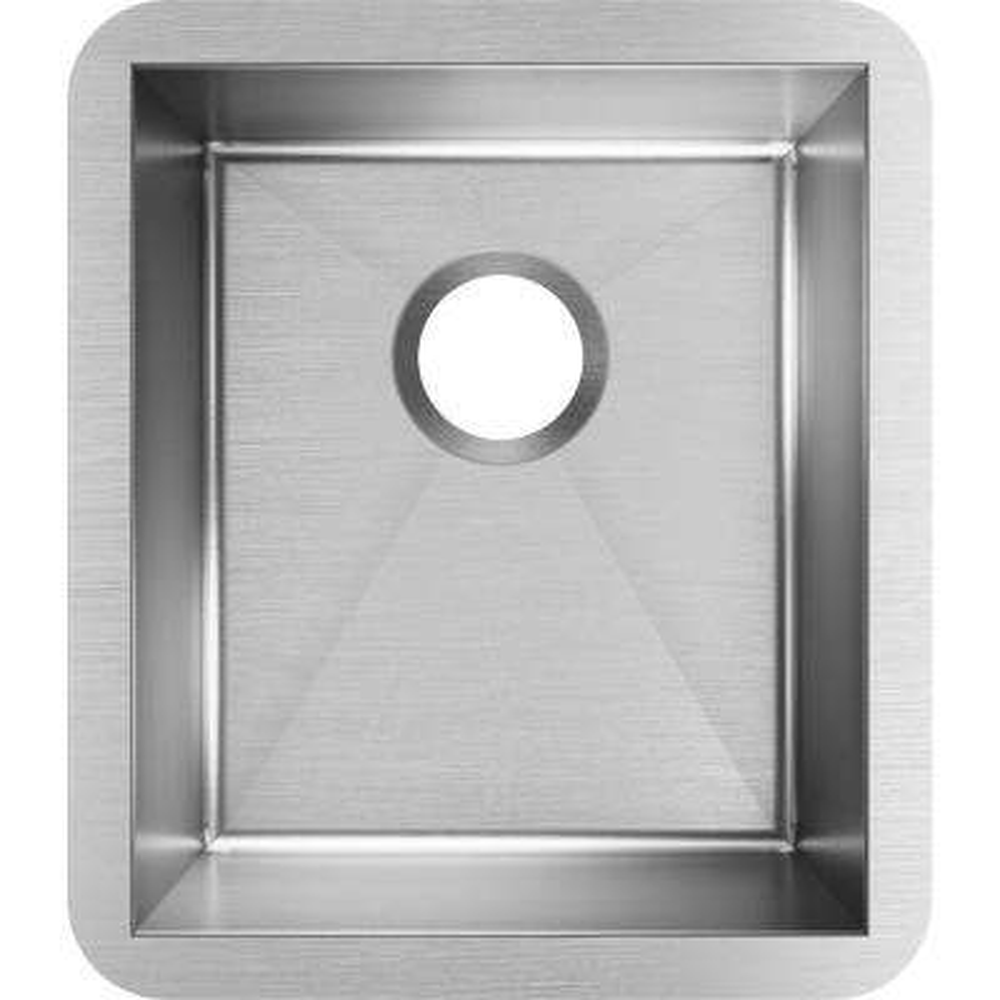 Crosstown Undermount 16-Gauge Stainless Steel 16 in. Single Bowl Kitchen Sink