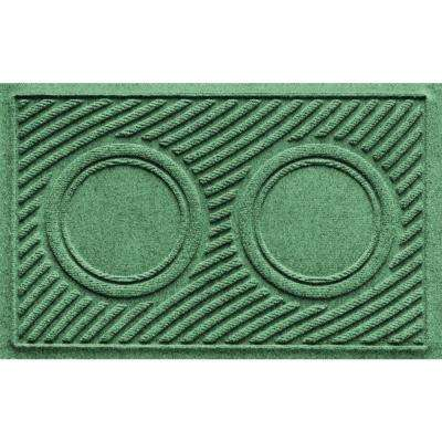 Light Green 18 in. x 28 in. Dog Bowl Wave Pet Mat