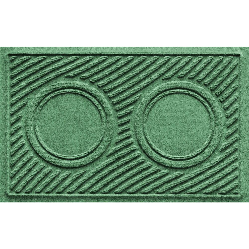 Light Green 18 in. x 28 in. Dog Bowl Wave Pet Mat, Greens