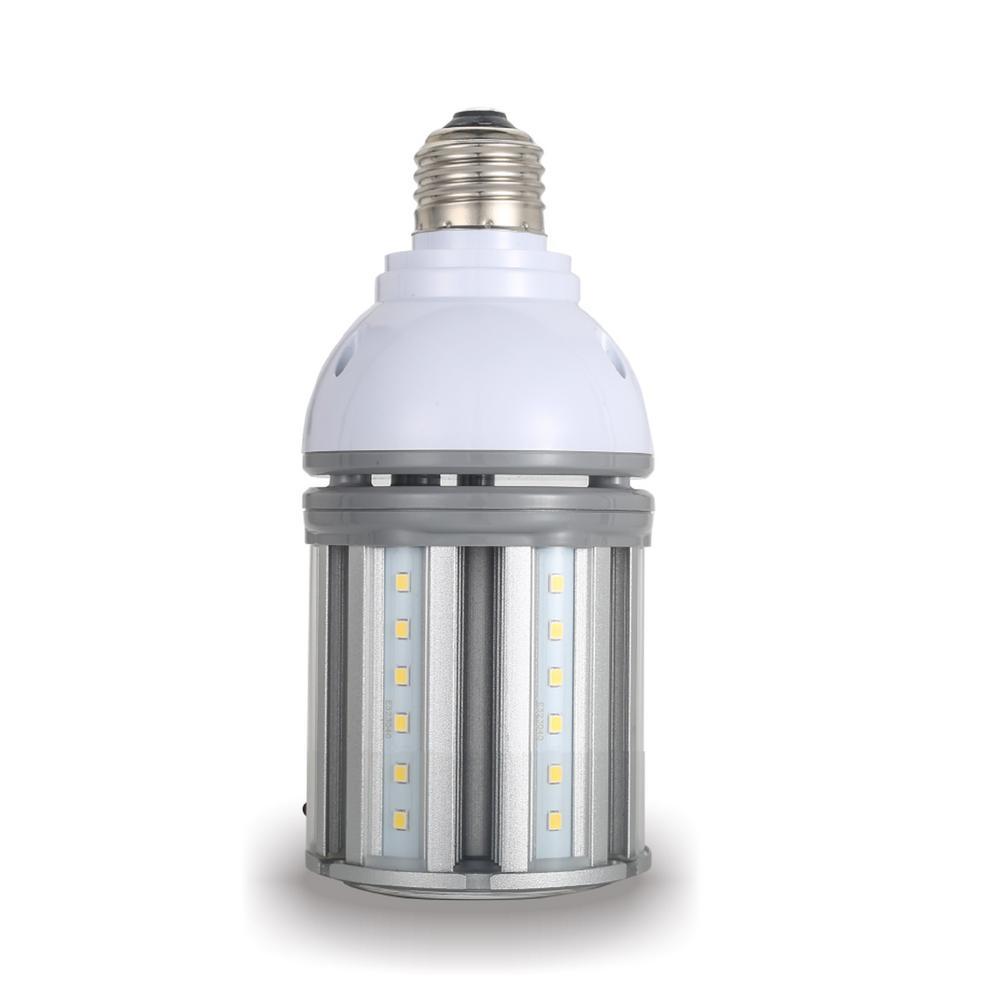 70-Watt Equivalent 14-Watt Corn Cob ED17 HID LED Post Top Bypass Light Bulb Med 120-277-Volt Cool White 4000K