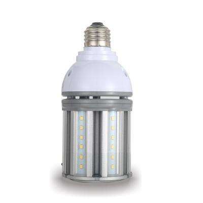 70-Watt Equivalent 14-Watt Corn Cob ED17 HID LED Post Top Bypass Light Bulb Med 120-277-Volt Cool White 4000K