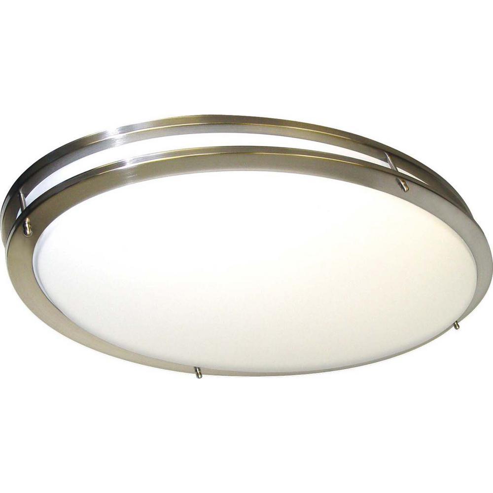 Glomar 2 Light Ceiling Brushed Nickel