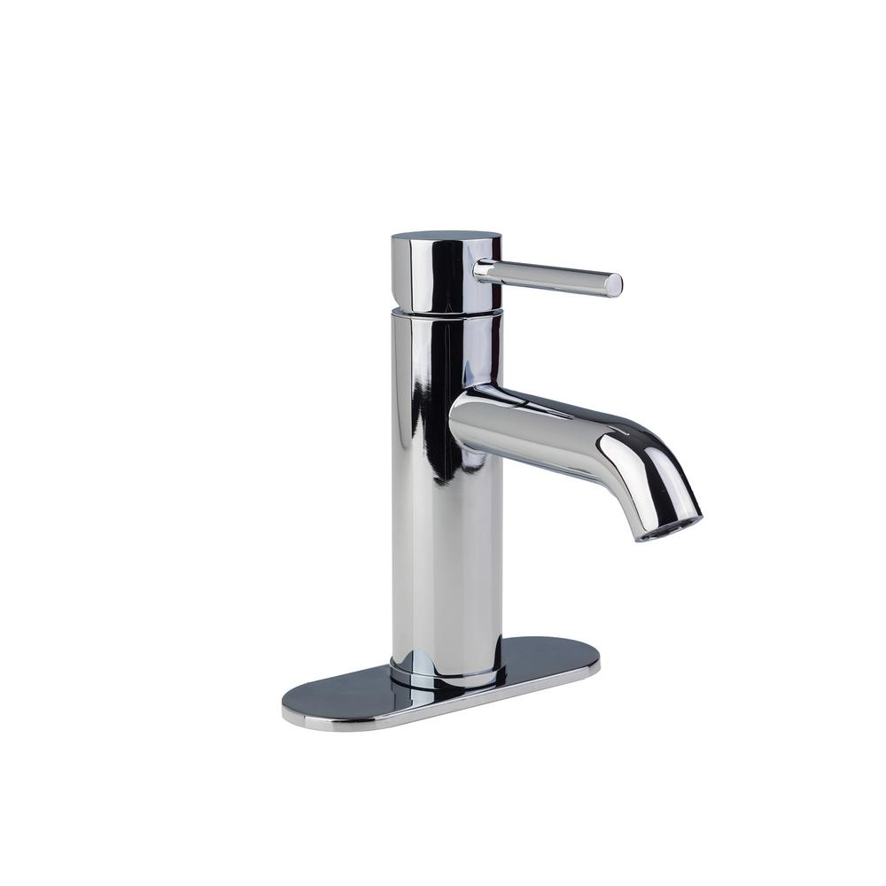 Fontaine Contemporary 4 in. Centerset 1-Handle High-Arc Bathroom Faucet in Chrome