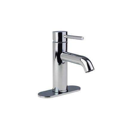 Contemporary 4 in. Centerset 1-Handle High-Arc Bathroom Faucet in Chrome