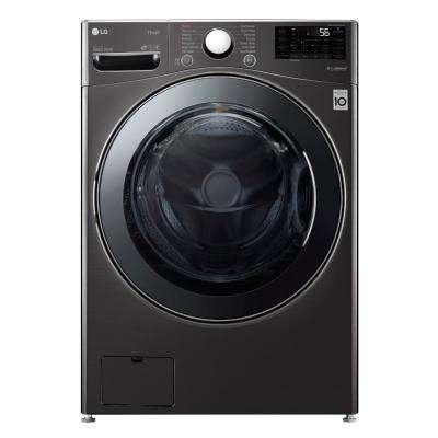 27 in. 4.5 cu. ft. Black Steel Ultra Large Capacity Electric All-in-One Washer Dryer Combo