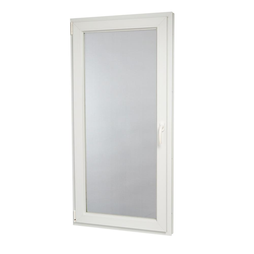 TAFCO WINDOWS 29.75 in. x 59.75 in. 88000 Series Left-Hand Inswing / Tilt in Vinyl Window - White
