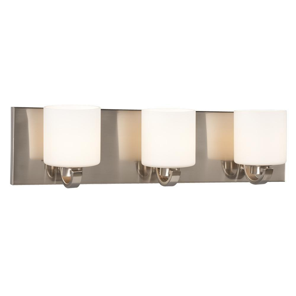 Filament Design Negron 3-Light Brushed Nickel Halogen Bath Vanity