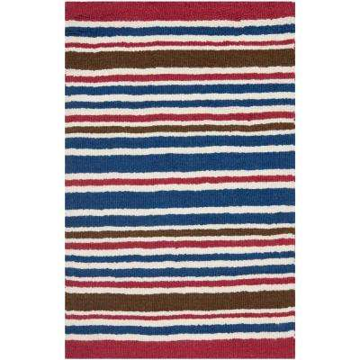 Red Hand Tufted Wool Kids Rugs The Home Depot
