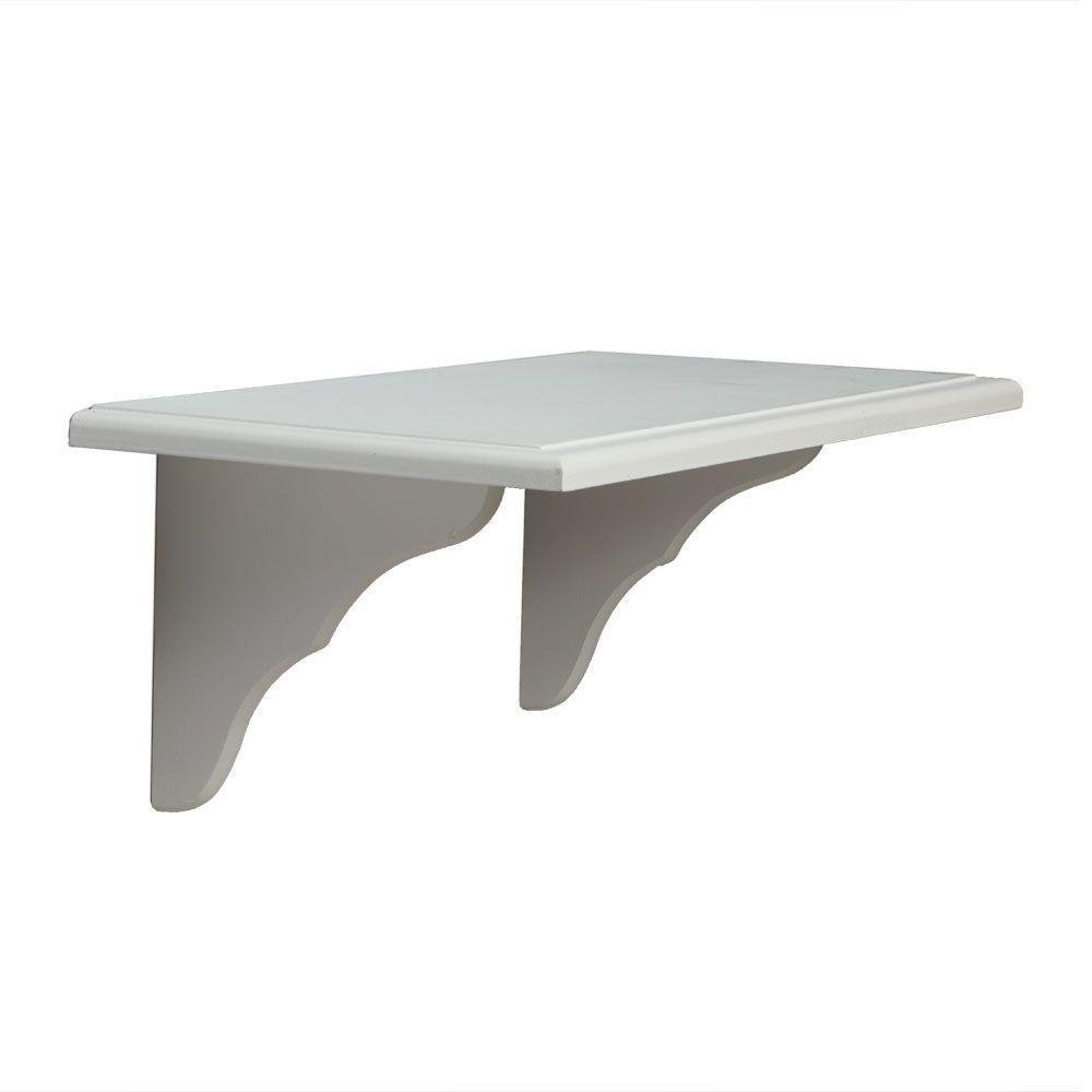 Knape & Vogt 9.5 in. x 23 in. White Decorative Shelf Kit