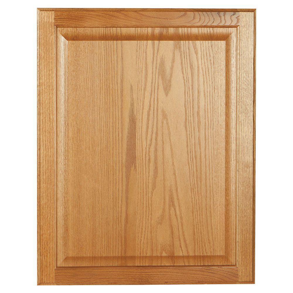 0.75x27.75x22 in. Base Cabinet Decorative End Panel in Medium Oak