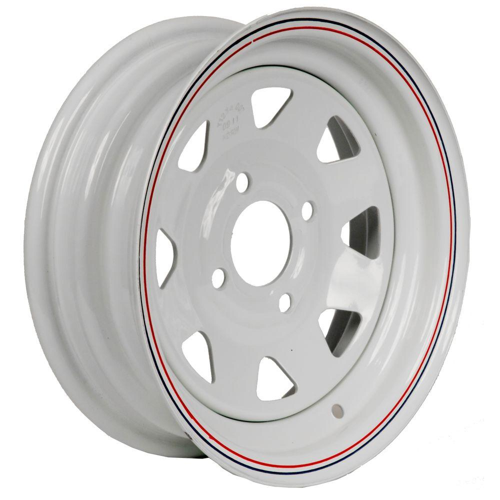 12x4 4-Hole 12 in. Steel Custom Spoke Trailer Wheel/Rim