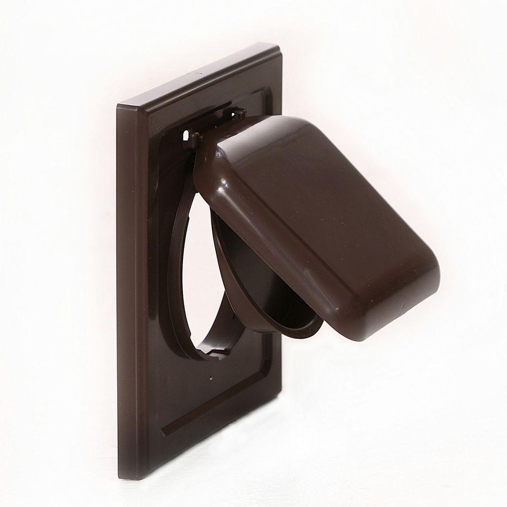 No Pest Vent 4 In. Wide Mount Dual Door Wall Vent In Brown NPWRB   The Home  Depot